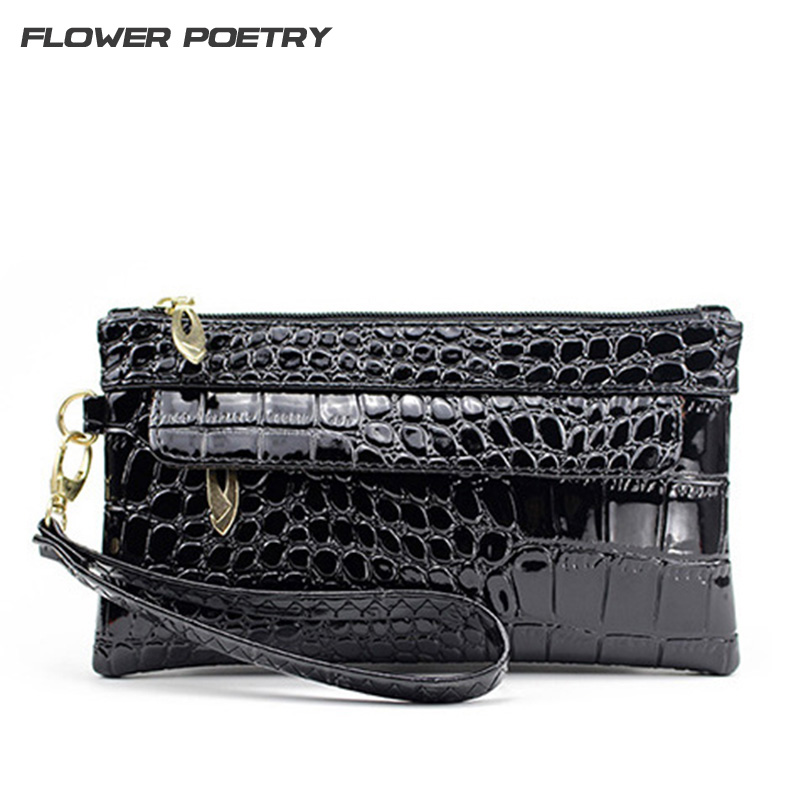 Leather Small Evening Clutch Bag Crocodile Pattern Leather Genuine Women Messenger Bags Purses and Handbags Designer Bolsos freeshipping 2016 genuine leather man small bag vintage clutch bag crocodile pattern leather men messenger bags 7267c