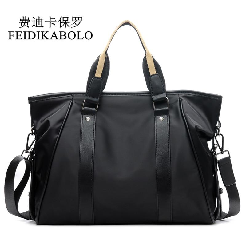 FEIDIKABOLO Design Men Bag Business Casual Briefcase Crossbody Bag Waterproof Oxford Casual Shoulder Bag Man Handbags Messenger