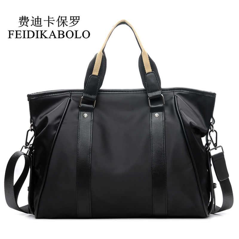 FEIDIKABOLO дизайн мужская сумка, бизнес Повседневное Портфели сумка через плечо Водонепроницаемый Оксфорд Повседневное мужская сумка на плечо Сумки курьерские