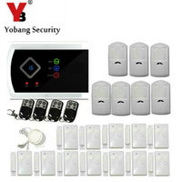 English Russian Spanish Italian Czech ANDROID APP Wireless Wired GSM Alarm System Telephone Security System
