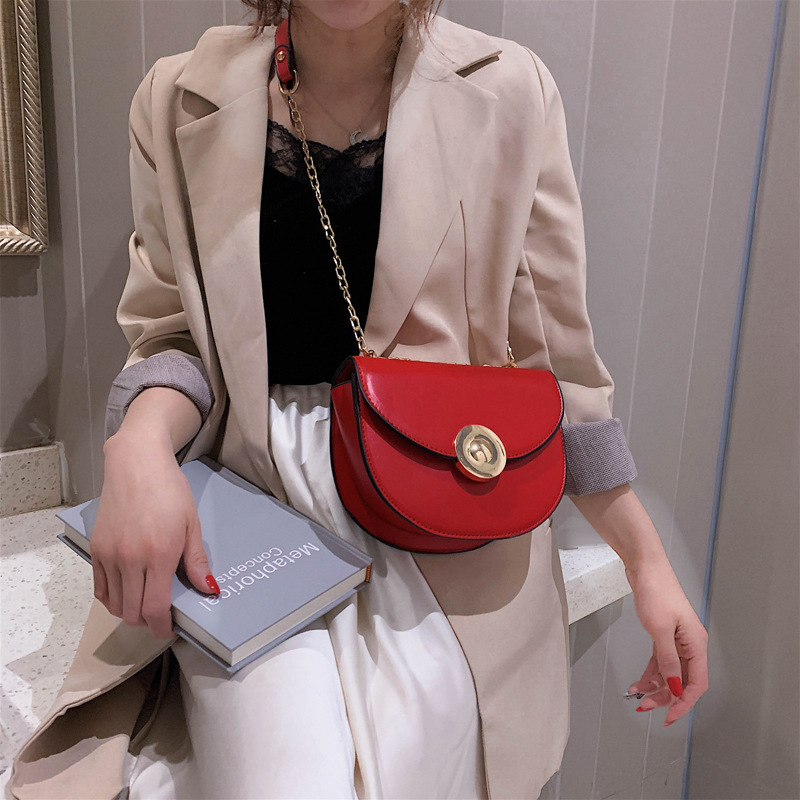 Female saddle Crossbody Bags For Women 2019 High Quality PU Leather Luxury Handbags Designer Sac Ladies Shoulder Messenger Bag in Shoulder Bags from Luggage Bags