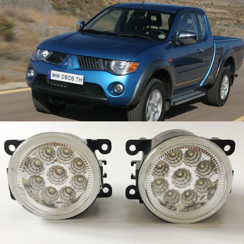 For Mitsubishi L200 Triton Strada Hunter 2006 2014 SMD 9 Pieces Leds Chips LED Fog Light
