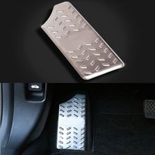 Stainless Steel Car Foot Rest Brake Pedal Pad Cover Trim For Honda Civic 2016-2017 honglue for honda today af61 motorcycle scooter aluminum alloy foot rest foot pad foot pedal