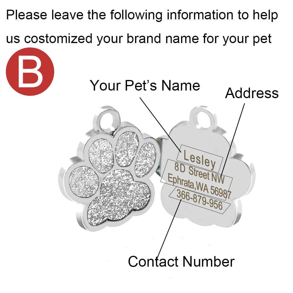 Pribadi Anjing ID Tags Kustom Anjing Tag Nama untuk Kucing Anjing Hewan Peliharaan Aksesoris Disesuaikan Nama Alamat Kategori Pribadi MP0078