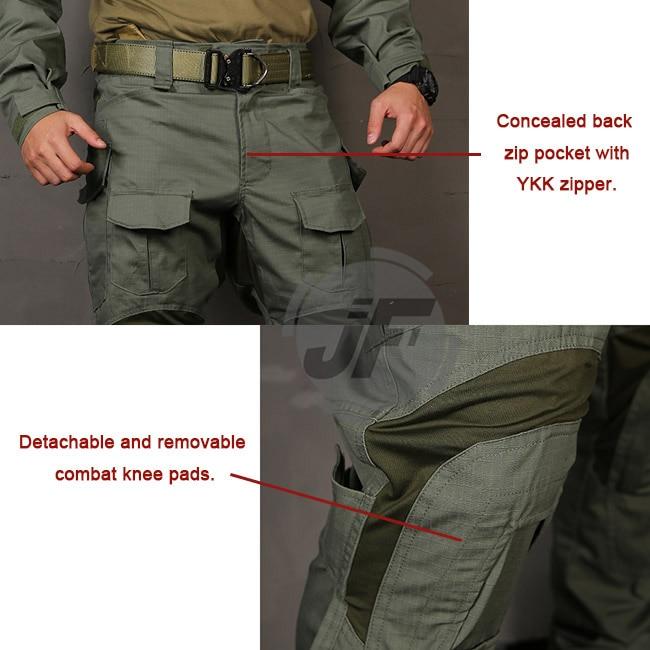 Emersongear g3 versão avançada calças de combate