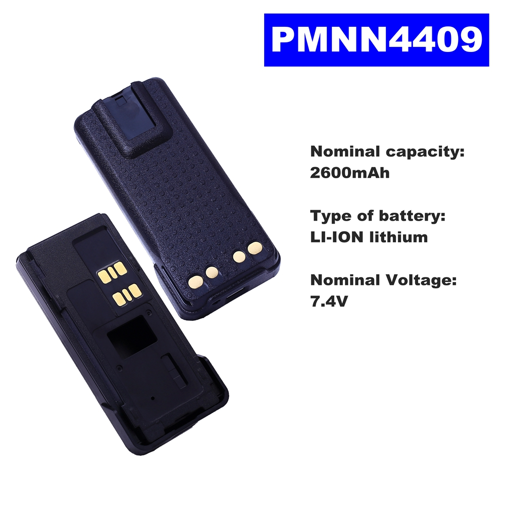 7.4V 2600mAh LI-ION Radio Battery PMNN4409 For Motorola Walkie Talkie P8608/8660 DP4601/4801 XPR3300/3500/7500 Two Way Radio7.4V 2600mAh LI-ION Radio Battery PMNN4409 For Motorola Walkie Talkie P8608/8660 DP4601/4801 XPR3300/3500/7500 Two Way Radio