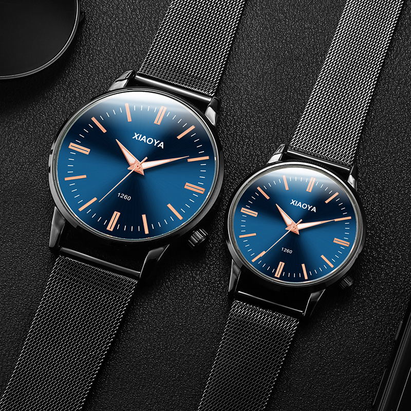 Casual couple watches for lovers men women sport watches brand luxury waterproof stainless steel quartz wristwatches couple gift luxury brand nary watch for women man quartz wrist watches stainless steel fine couple lovers casual watches relogio 1 pcs