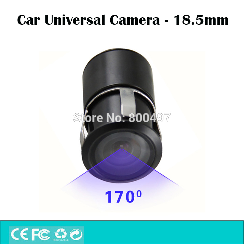 Universal Mini Color Reverse Backup Car Rear View Camera 18.5mm 480 TVL 170 Degrees Waterproof IP67 for All the Car Models|170 degree|rear view camera|camera 170 degree - title=