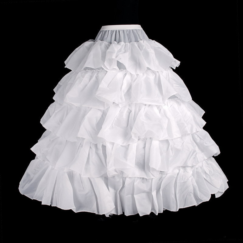Wedding Gowns Accessories: Free Shipping 4 Hoop Ball Gown Petticoats Crinoline