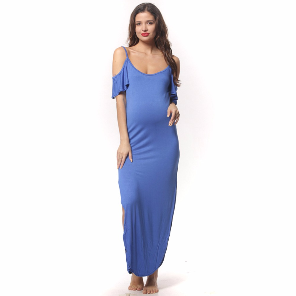 Online shop puseky spaghetti strap maternity dresses stretchy online shop puseky spaghetti strap maternity dresses stretchy cotton jersey pregnant clothes summer maternity nursing dress sides slit aliexpress mobile ombrellifo Images