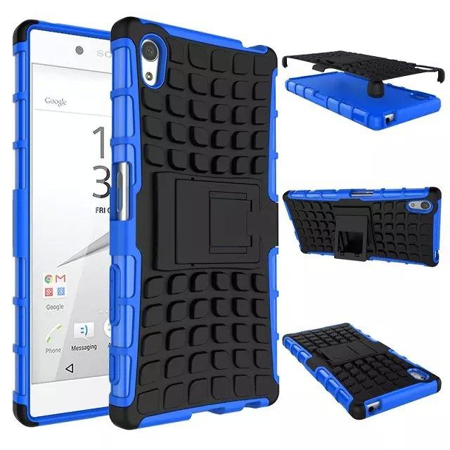 Carcasas Fundas para Sony Xperia Z5 Fundas para teléfono con función de soporte 2 en 1 diseño PY de calidad superior funda dura resistente