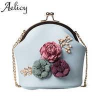 Aelicy Women Fashion Handbag Shoulder Stereo Flowers Bag Small Tote Ladies Purse Luxury Handbags Women Bags