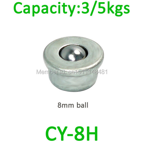 5pcs CY-8H mini Press mount Steel Ball transfer unit 5kg load capacity miniature CY-8H smallest ball bearing caster roller
