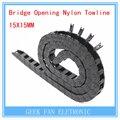 3D пинтер аксессуар мост открытие нейлон буксирный трос 10 * 15 мм с обеих сторон пластиковой буксировочный канат кабель F218