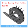 3D pinter accessory Bridge Opening Nylon Towline 10*15mm  Both Side Plastic Towline Cable Drag Chain F218