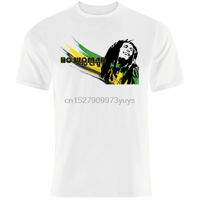 'no Woman No Cry' Bob Marley Inspired Famous Quote Jamaican Colours T Shirt Sales Of Quality Assurance