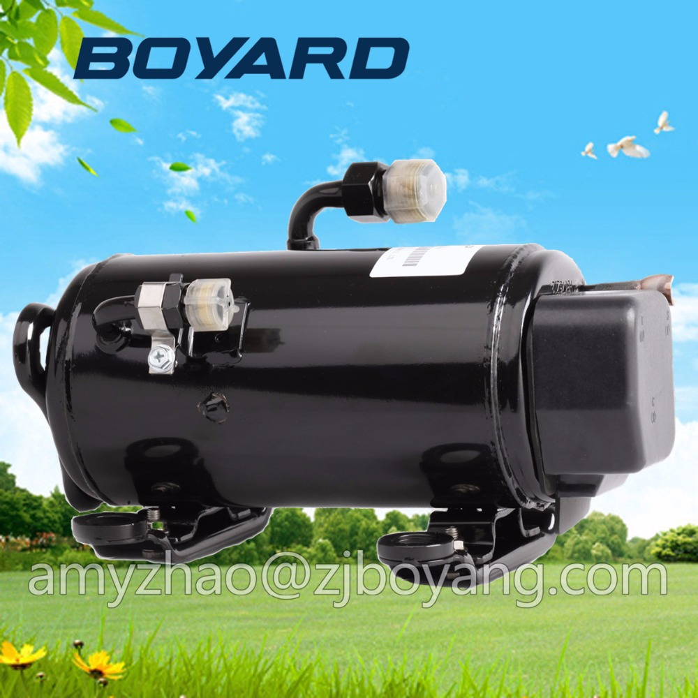 BOYARD horizontal 24V dc air conditioner compressor KFB135Z24 R134a for portable cabin air conditioner made in china boyard 12 24v compressor of portable air conditioner for cars portable freezer portable drink cooler