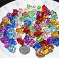 Brinquedos de plástico para crianças brincar de casinha gem frisado caça ao tesouro do pirata jogo plástico diamante 100 pçs/set