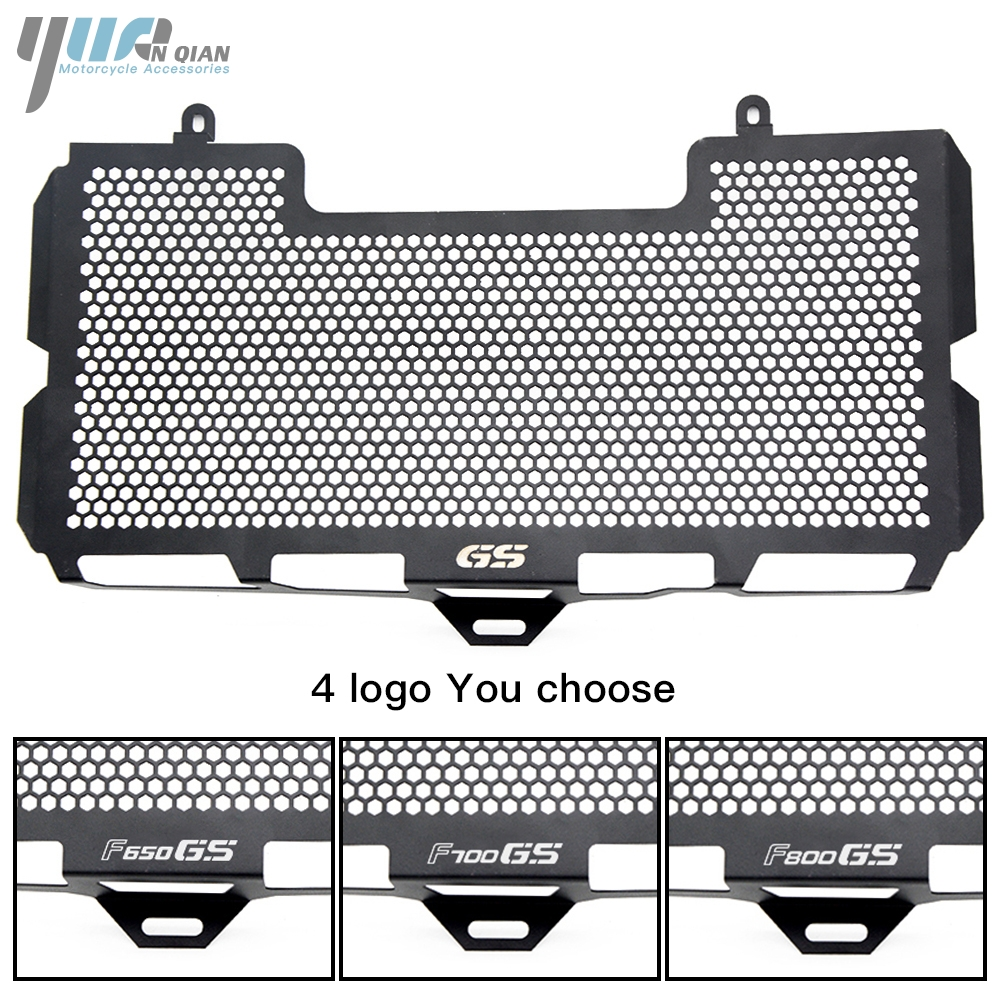 YUANQIAN BLACK For BMW F650 F650GS F700GS F800GS F800R 2008-2018 Stainless Steel Radiator Grille Guard Cover f650gs f800gs motorcycle accessories radiator guard protector grille grill cover for bmw f800s f800r f700gs f650gs f800 s r f650 f700 gs
