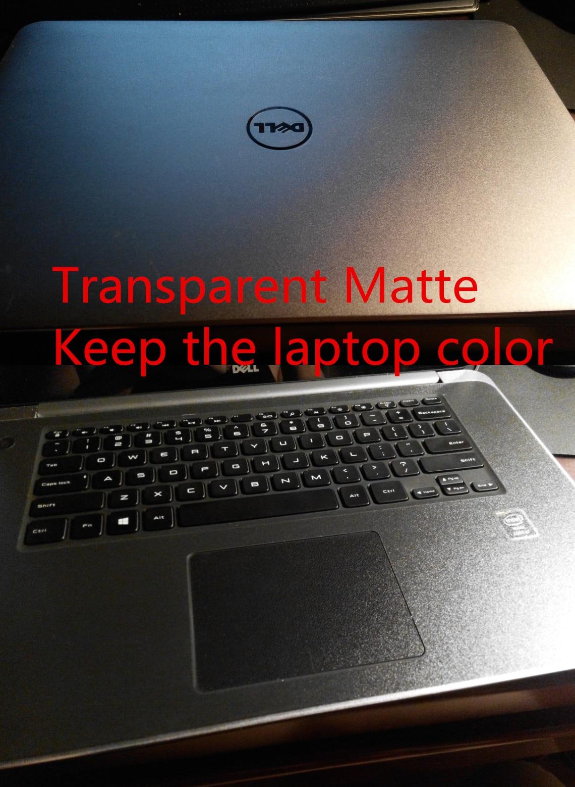 Специальные кожаные виниловые наклейки из углеродного волокна для ASUS G53 G53SW G53SX 15,6 дюйма - Цвет: Transparent Matte