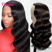 Body Wave Lace Front Wig 13x6 Brazilian Lace Front Human Hair Wigs 180% Pre Plucked Frontal Wig For Women Yolissa Remy Hair(China)