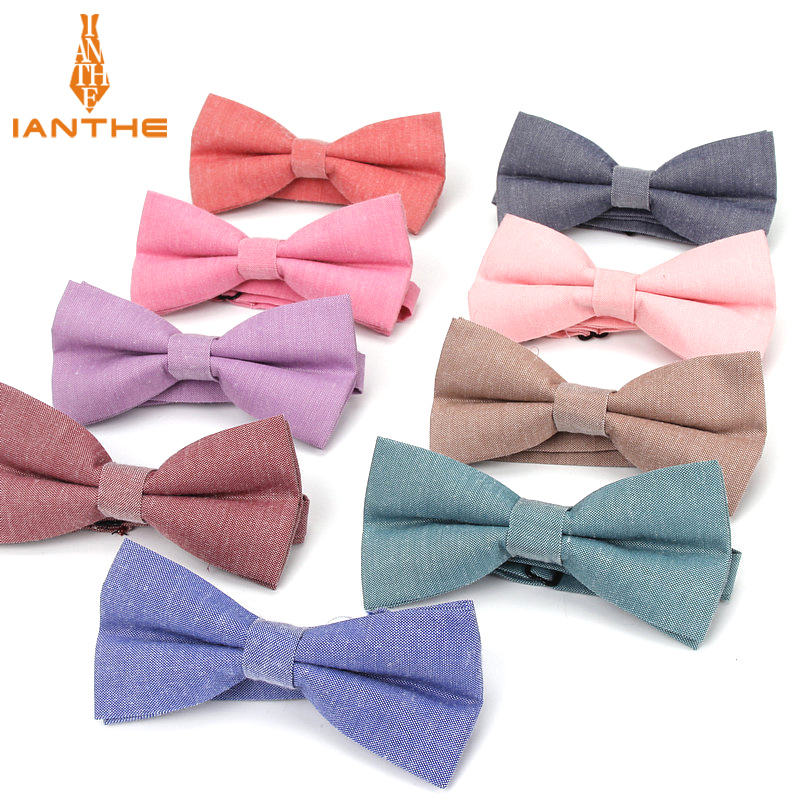 Brand New Men's Fashion Bow Tie Pure Solid Butterfly Cravat Ties For Men Wedding Bowtie Tuxedo Bows Male Accessories Gifts