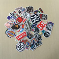 40pcs Skateboard Deck Stickers Non-Repeated Stickers Home Decor Stickers Cartoon Skateboard Brand Stickers