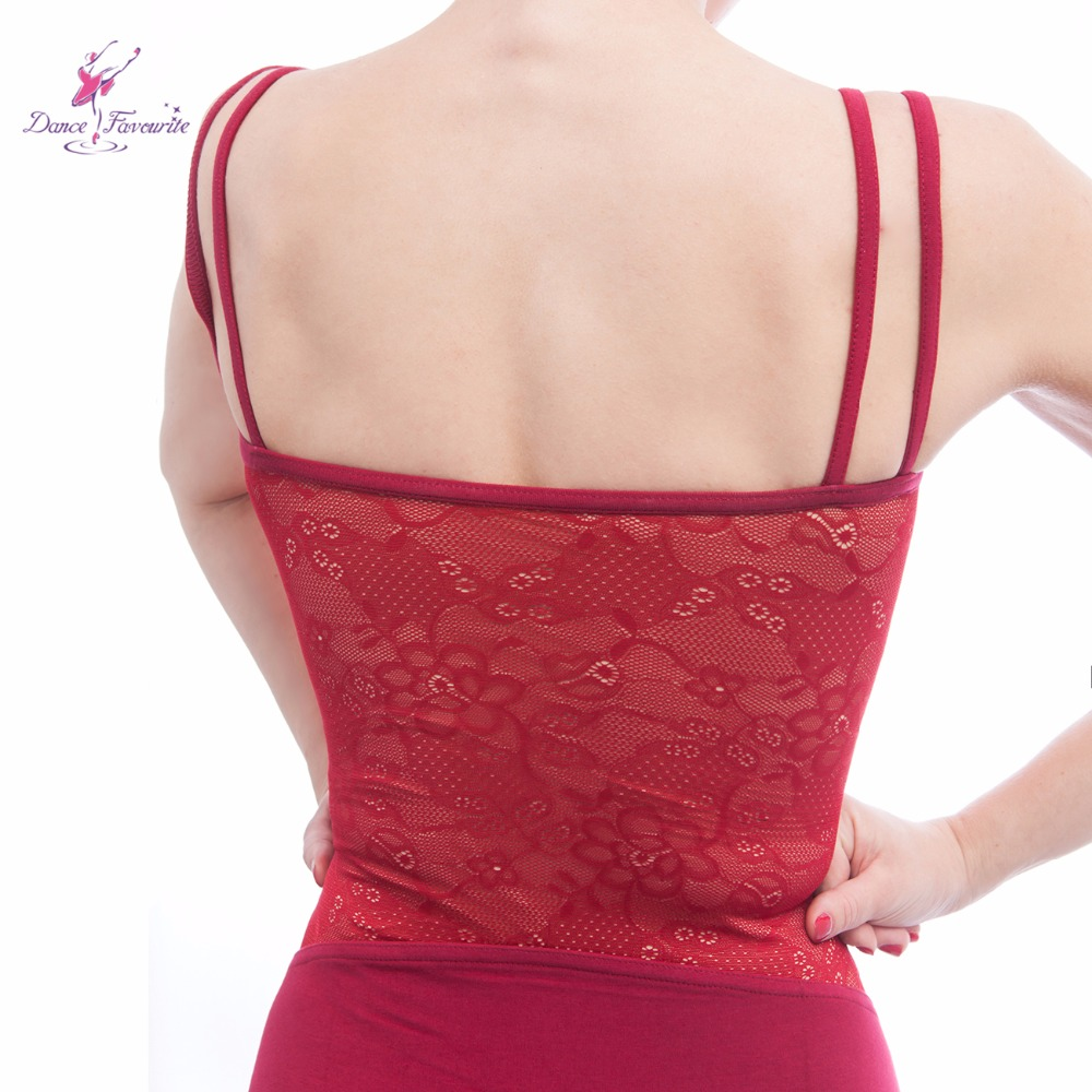 5 pcs lot burgundy double layer camisole ballet leotard lace adult ballet  leotard ballerina dancewear-in Ballet from Novelty   Special Use on  Aliexpress.com ... d7ecc43cf