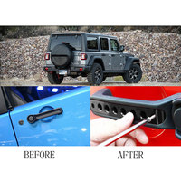 For Jeep Wrangler 2007 2017 Aluminum Grab Handle Pull Inserts Cover Car Door Handle Trims