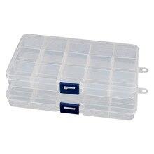 2pcs Detachable 15 Slots Plastic Components Tool Storage Cases Boxes