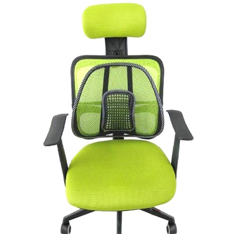 Chair Back Seat Massage Back Cushion Pad Relief Lumbar Brace For Car Truck Office Home Cushion Seat Chair Cushion Cool 40 x 40cm