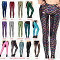 2017 New Fashion Women Trousers Digital Print Women Mermaid Fish Scale Leggings  H9