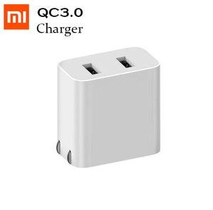 Image 1 - Xiaomi cargador de viaje Original con doble USB, Mini cargador portátil de carga rápida QC3.0 9V = 2A/12V = 1.5A/5V = 2.4A Max 18 20W, puerto USB Dual