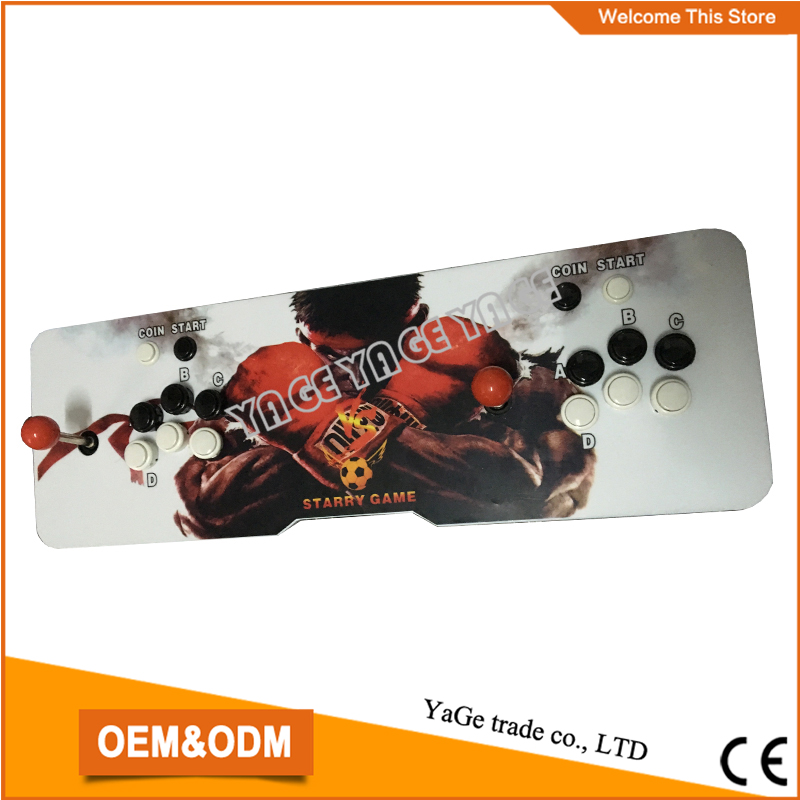 Double Joystick game console with Pandora's Box 4 board multi game 645 in 1,very good fighting game console