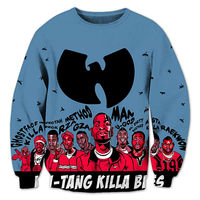 Hip Hop 3D Men Sweatshirts Wu Tang Clan Print Hoodies Harajuku Fashion Leisure Crewneck Streetwear Plus