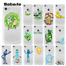 Babaite Rick And Morty Funny Cartoon Cover Transparent Soft Shell Phone Case for Apple iPhone7 8 6 6S Plus X XS MAX 5 5S SE XR