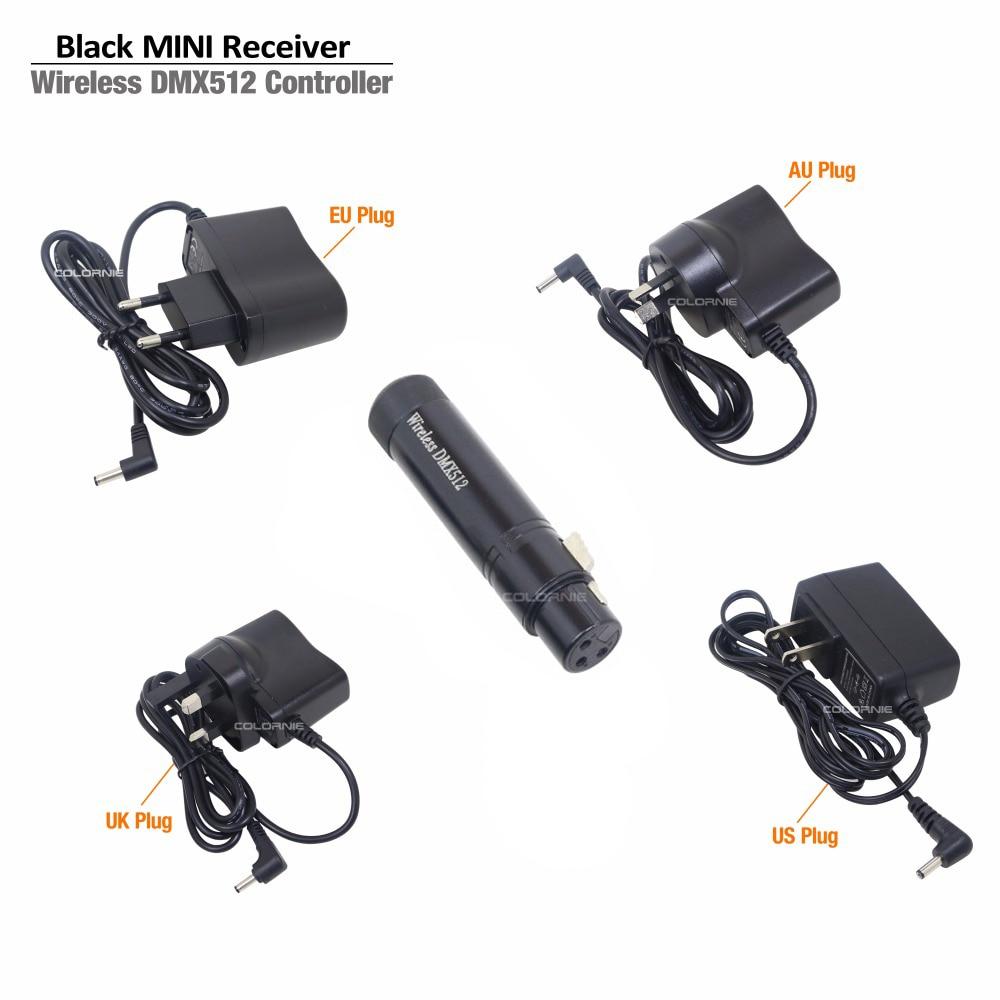 Envío gratis HOT venta controlador inalámbrico dmx receptor inalámbrico dmx China dj system Proveedores