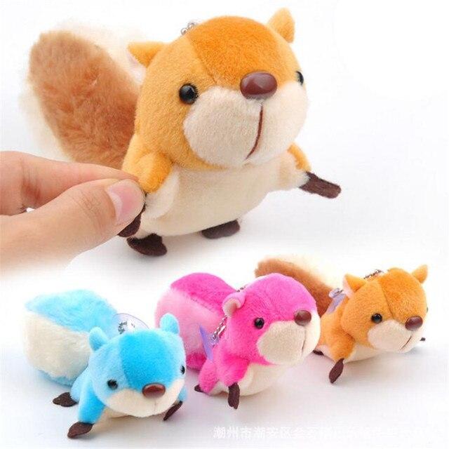 Esquilo bonito clamshell minni pingente boneca de brinquedo de pelúcia boneca chaveiro de pelúcia 3 cores 8 cm wj04