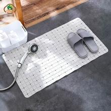 MSJO Anti slip Shower Mat Bath Bathroom PVC Sucker Floor Rugs Carpet Grid Design Soft Drain Bathtub Kid