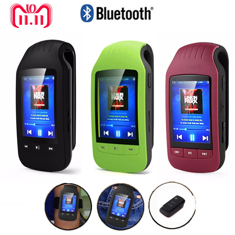 Vendita HOTT 1037 Lettore Mp3 Bluetooth Pedometro Sport portatile Musica Clip Player FM Radio Micro SD Card 1.8 Screen Cronometro