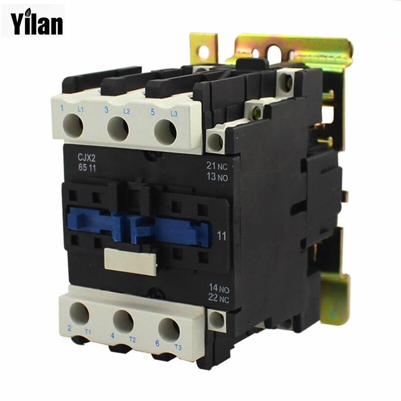 ᗔMotores relé de arranque cjx2-5011 contactor AC 220 V 380 V 50a ...