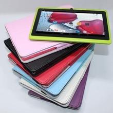 Tableta de 7 pulgadas de la tableta de Q88 Allwinner A33 Quad Core tablet pc Android 4.4 512 MB/8 GB 1024*600 2800 mAh wifi linterna descuento grande