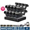 8CH AHDL DVR HD 900TVL security camera CCTV System Kit 8 Channel Video Surveillance 1080P DVR NVR system HDMI 3g wifi no HDD