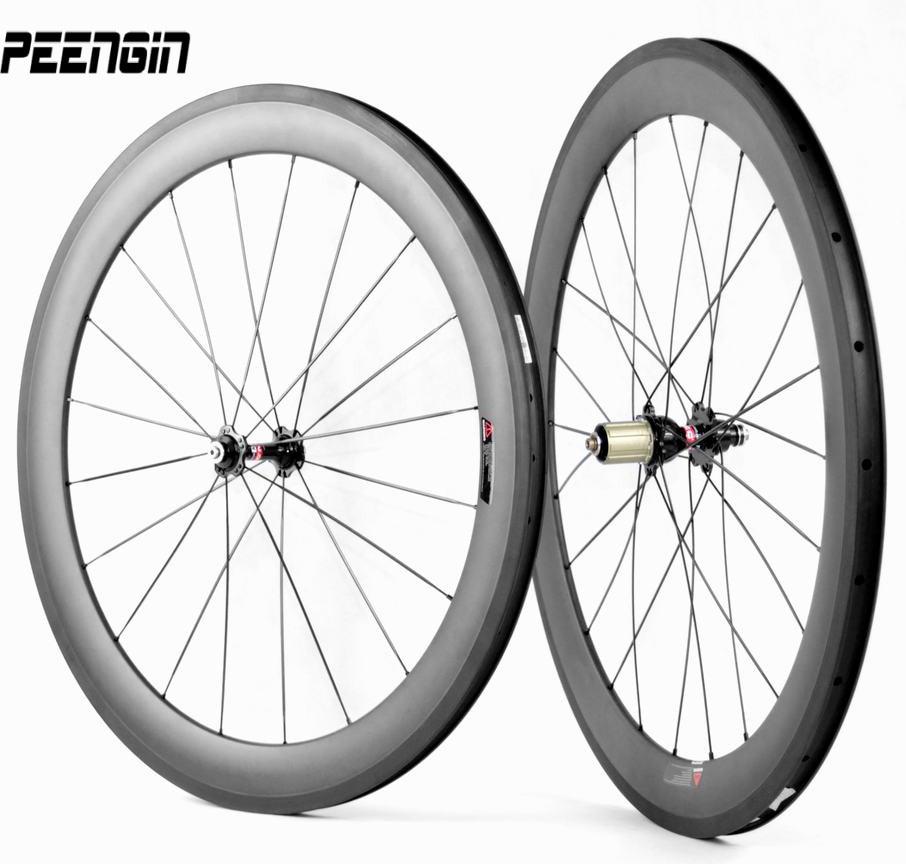 Lightest carbon bike wheels clincher toray T700 cycling wheelset 60mm aro bike carbono basalt suface deep section rim alloy hubs
