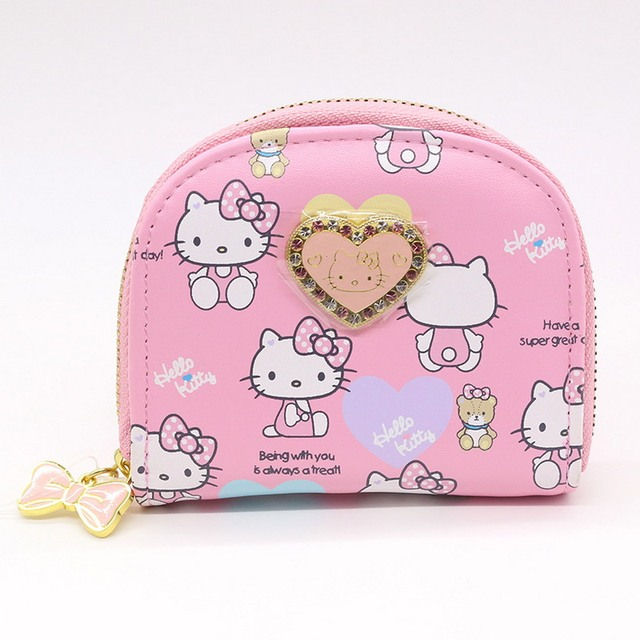 Hello kitty character cat business card holder women zipper wallet hello kitty character cat business card holder women zipper wallet high quality pu pink cute name reheart Images