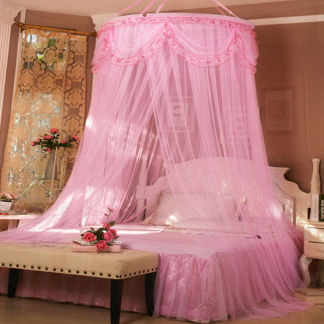 Olympic Princess Hung Dome Mosquito Net For Girl Bed Elegant Insect Bed Mesh Canopy Curtain Netting & Olympic Princess Hung Dome Mosquito Net For Girl Bed Elegant ...