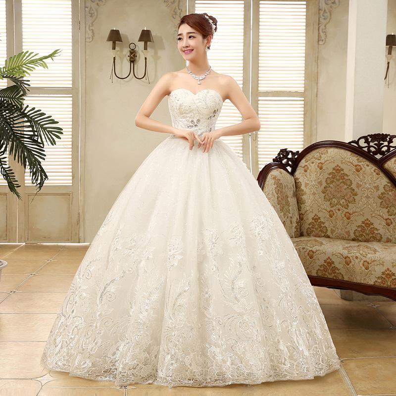Bridal Luxury Dress Lace Up Bride Large Size Wedding Dresses Ball Gowns Princess Wedding Dress