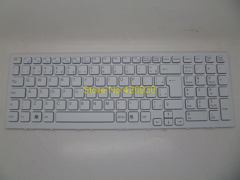 ФОТО Laptop Keyboard for SONY VPC-EH White BR with Frame V116646F-BR/148971711