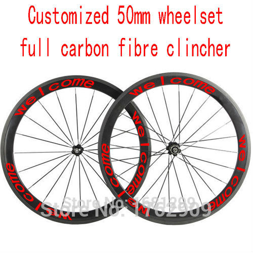 New customized 700C 50mm clincher rims road bicycle aero 3K UD 12K full carbon fibre bike wheelsets 20.5 23 25mm width Free ship 1pair new 700c 60mm clincher rims track fixed gear bicycle aero 3k full carbon fibre bike wheelsets 20 5 23 25mm width free ship