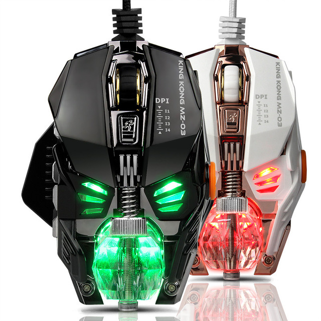 New Product Gaming Mouse Macro Programming Professional Wired Game Metal Detachable Mouse Free Weight Block Crystal Ball